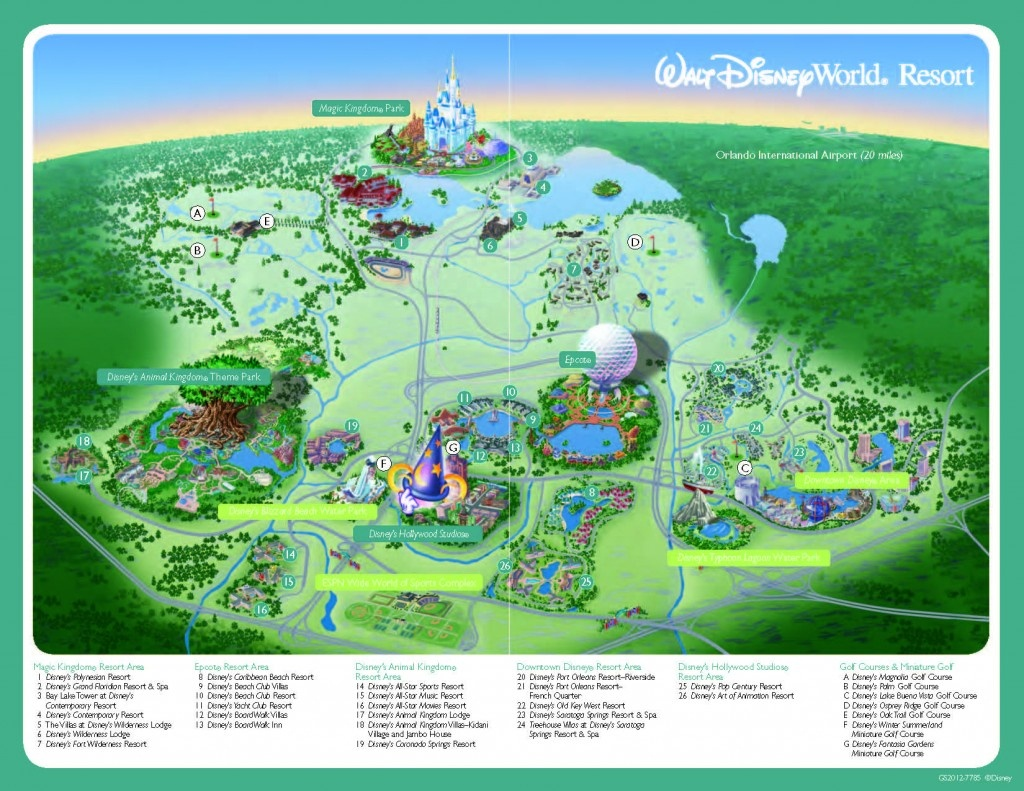 Disney World Resort Map - 2019 Tpe Community Conference2019 Tpe - Printable Disney World Maps