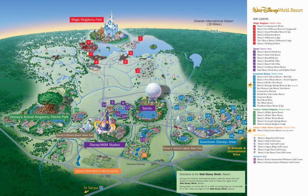 Disney World Resort Map - Orlando Florida • Mappery - Disney World Florida Resort Map