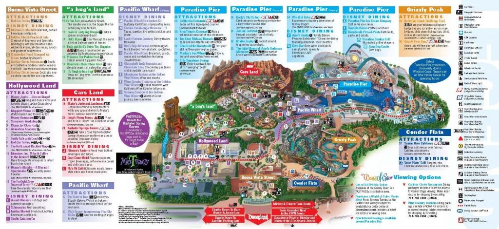 Disneyland California Adventure Park Map   Park Maps Disneyland Park - California Adventure Map 2017