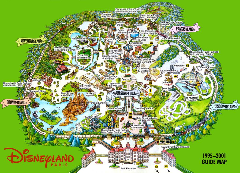 Disneyland Paris. 1995 - 2001 Guide Map #dlp #dlrp #disney | Disney - Disneyland Paris Map Printable