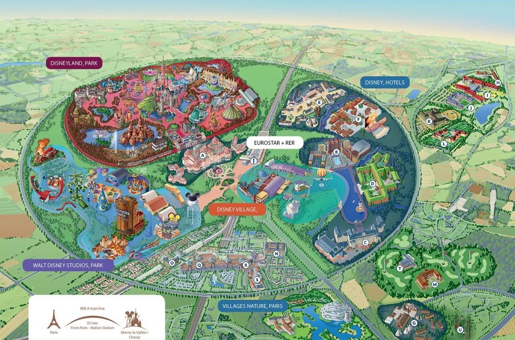 Disneyland Paris Map   Summer 2019 (France & Spain) In 2019   Disney - Hotel California Paris Map