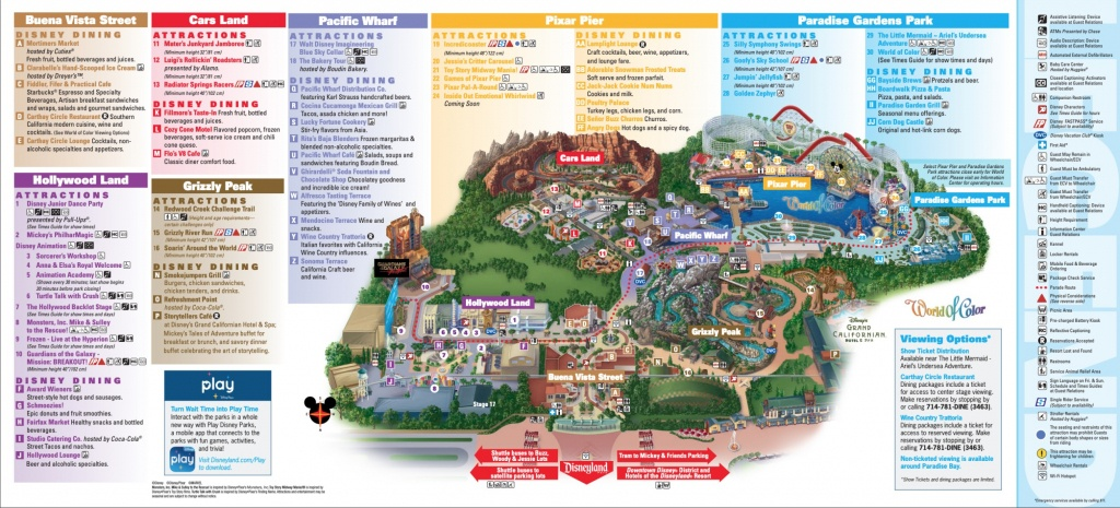 Disneyland Park Map In California, Map Of Disneyland - Printable Disney Park Maps
