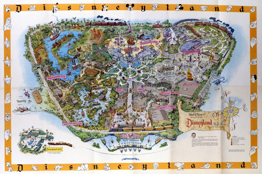 Disneyland's Evolution Through Maps | Kcrw - Disney World California Map