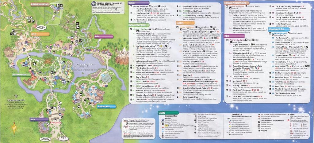 Disney's Animal Kingdom Guidemaps - Animal Kingdom Florida Map