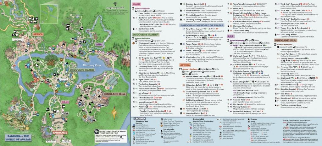 Disney's Animal Kingdom Map Theme Park Map - Animal Kingdom Florida Map