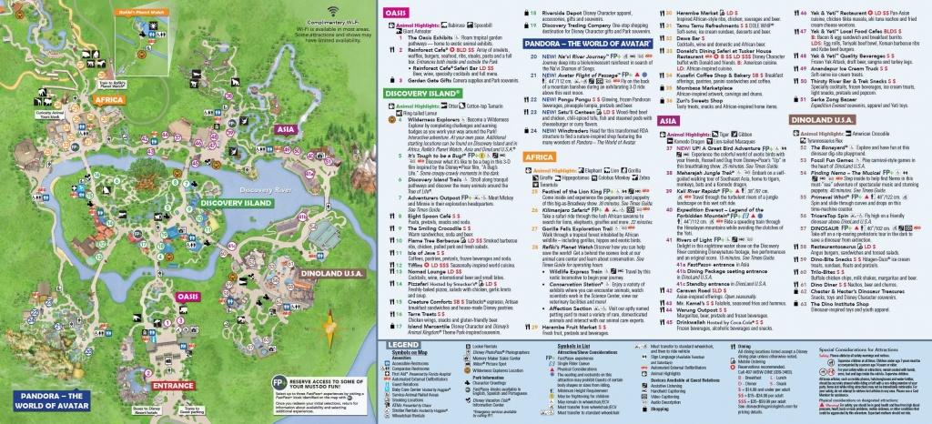 Disney's Animal Kingdom Map Theme Park Map | Dinsey Vaca In 2019 - Disney World Florida Theme Park Maps