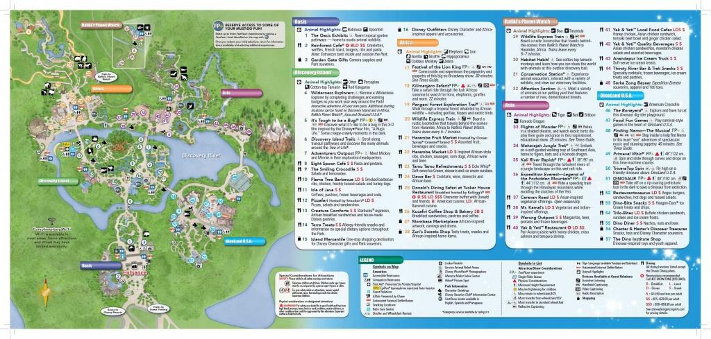 Disney's Animal Kingdom Map Theme Park Map   Disney   Disney World - Animal Kingdom Florida Map