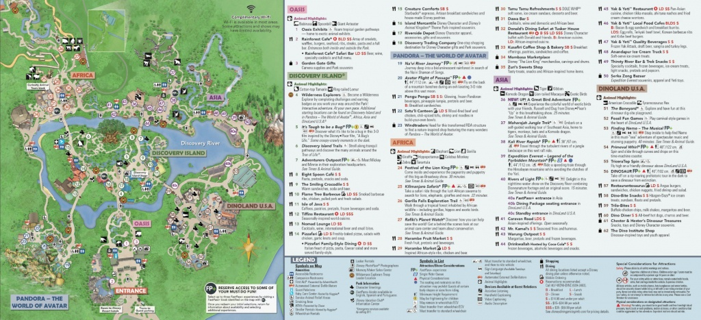 Disney's Animal Kingdom Map Theme Park Map - Disney World Florida Theme Park Maps