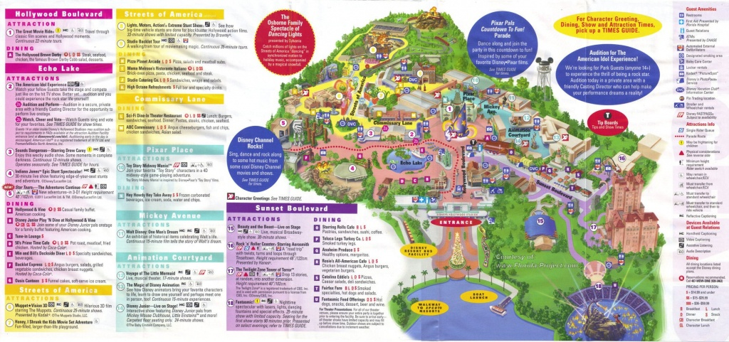 Disney's Hollywood Studios Guidemaps - Florida Parks Map