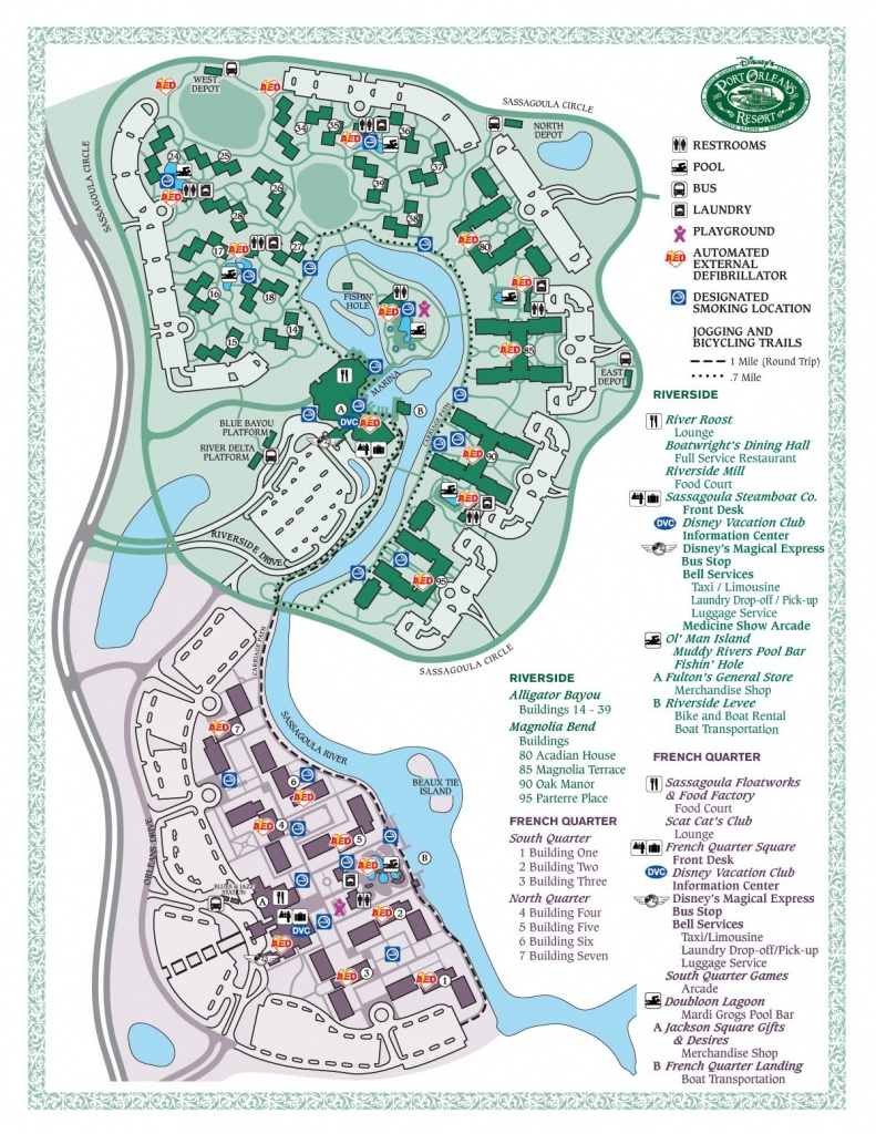 Disney's Port Orleans French Quarter Map - Wdwinfo - Printable French Quarter Map