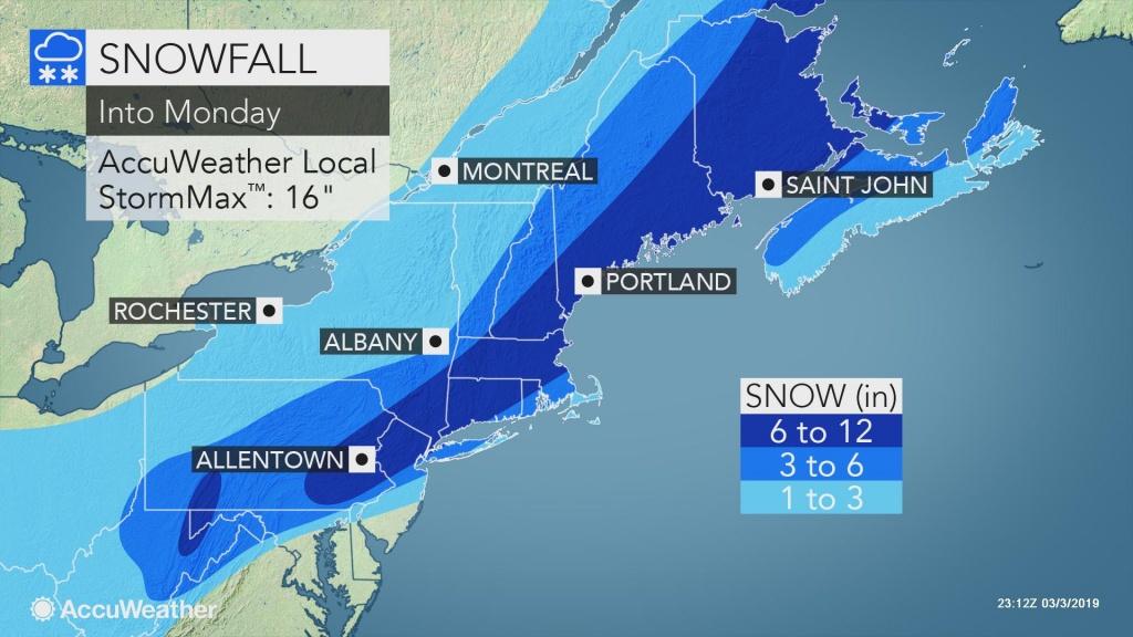 Disruptive Northeastern Us Snowstorm To Continue Into Monday - Florida Radar Map
