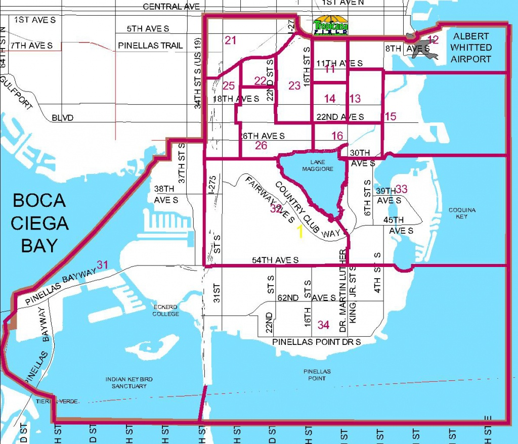 Districts - City Map Of St Petersburg Florida