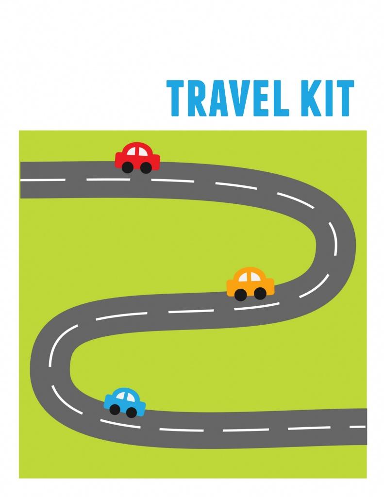 Diy Kids' Travel Binder + Free Printable Road Trip Games - Printable Road Trip Maps