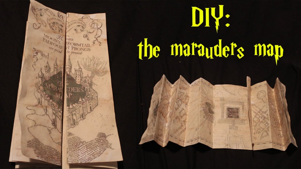 Diy: Marauders Map! - Youtube - Marauders Map Template Printable