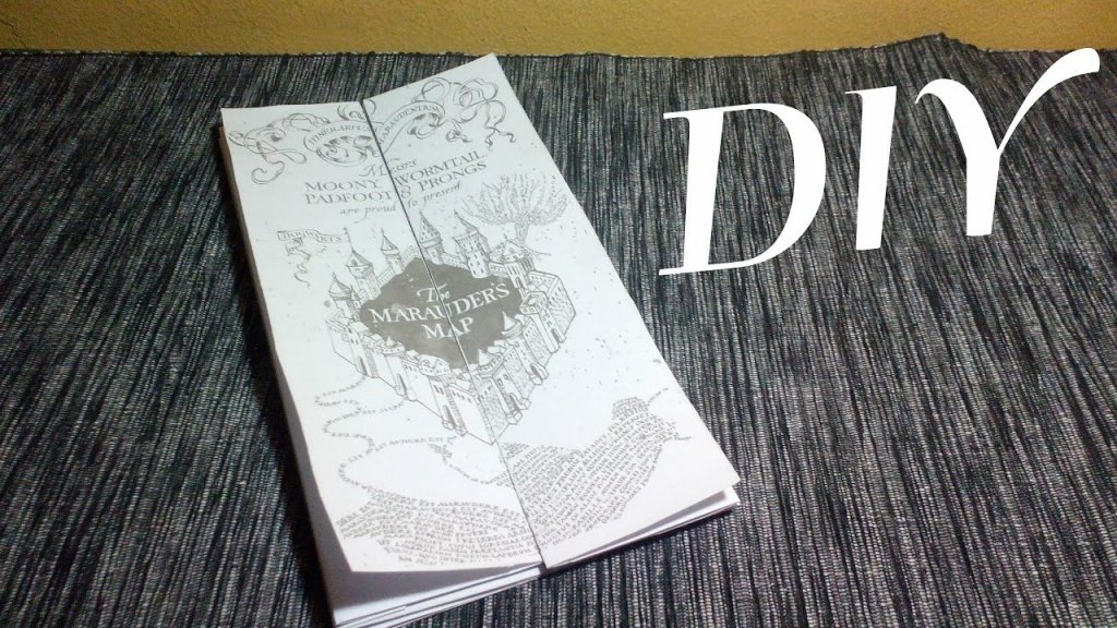 Diy – The Marauders Map | Harry Potter - Youtube - Harry Potter Marauders Map Printable