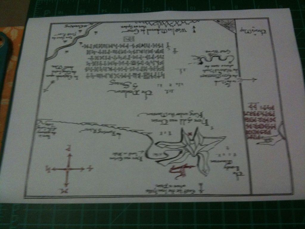 Diy Thrors' Map: 6 Steps - Thror's Map Printable