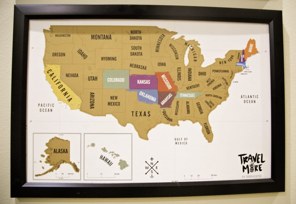 Diy Travel Scratch Off Maps For Kids – The Majestic Mama - Florida Scratch Off Map