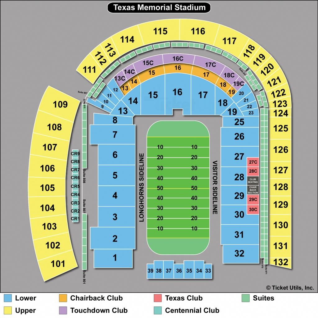 Dkr Stadium Map   Area Code Map - Texas Memorial Stadium Map