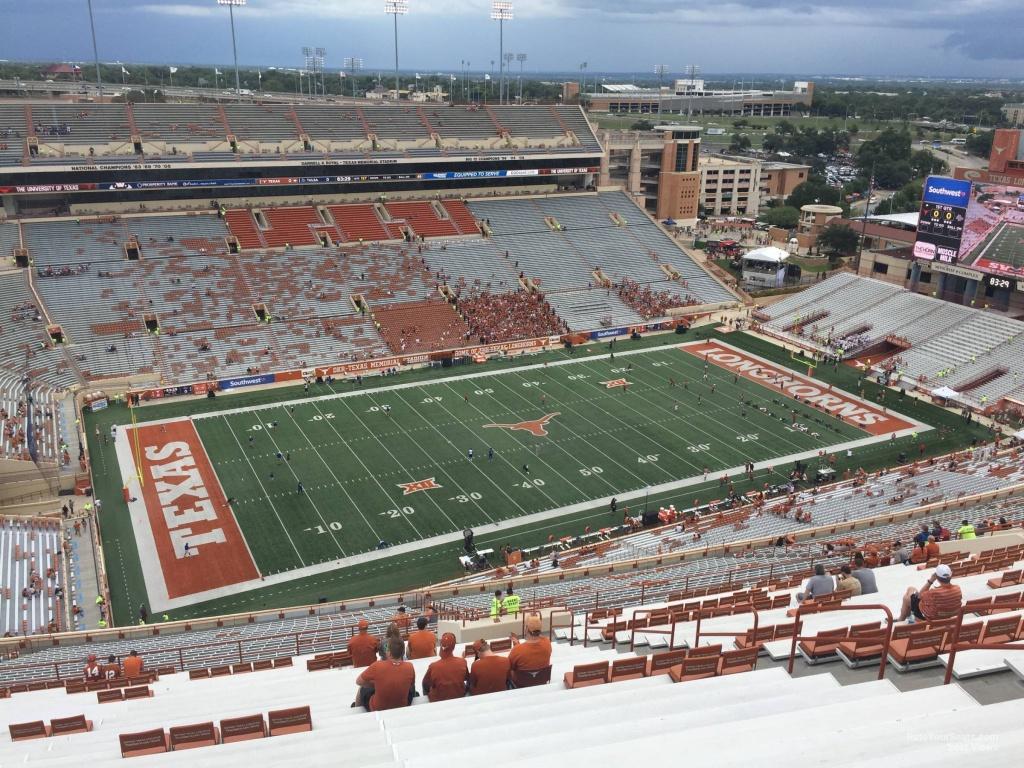 Dkr-Texas Memorial Stadium Section 108 - Rateyourseats - Texas Memorial Stadium Map