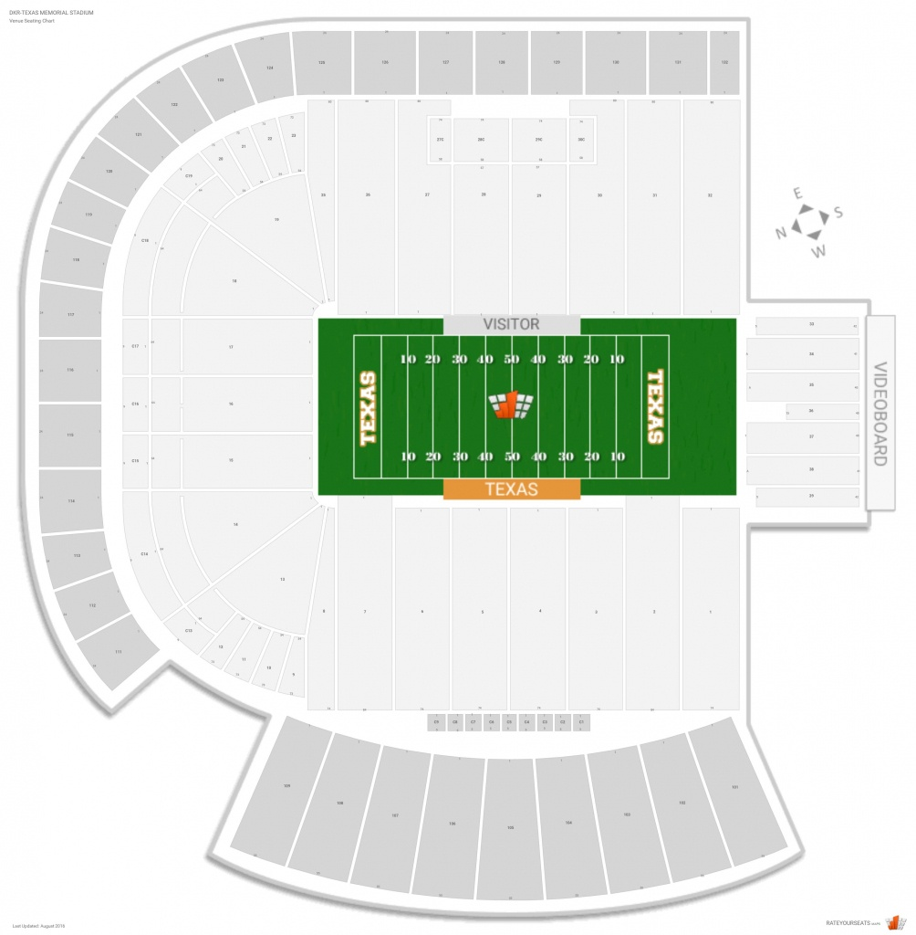 Dkr-Texas Memorial Stadium (Texas) Seating Guide - Rateyourseats - University Of Texas Football Stadium Map