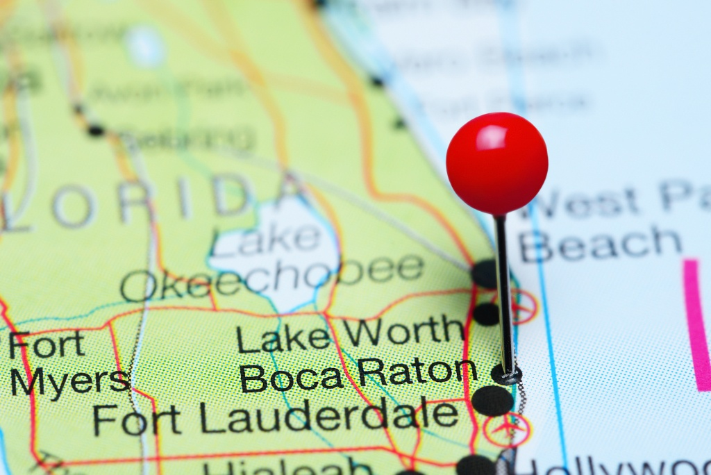 Document Scanning Service Boca Raton, Fl | Record Nations - Map Of Florida Including Boca Raton
