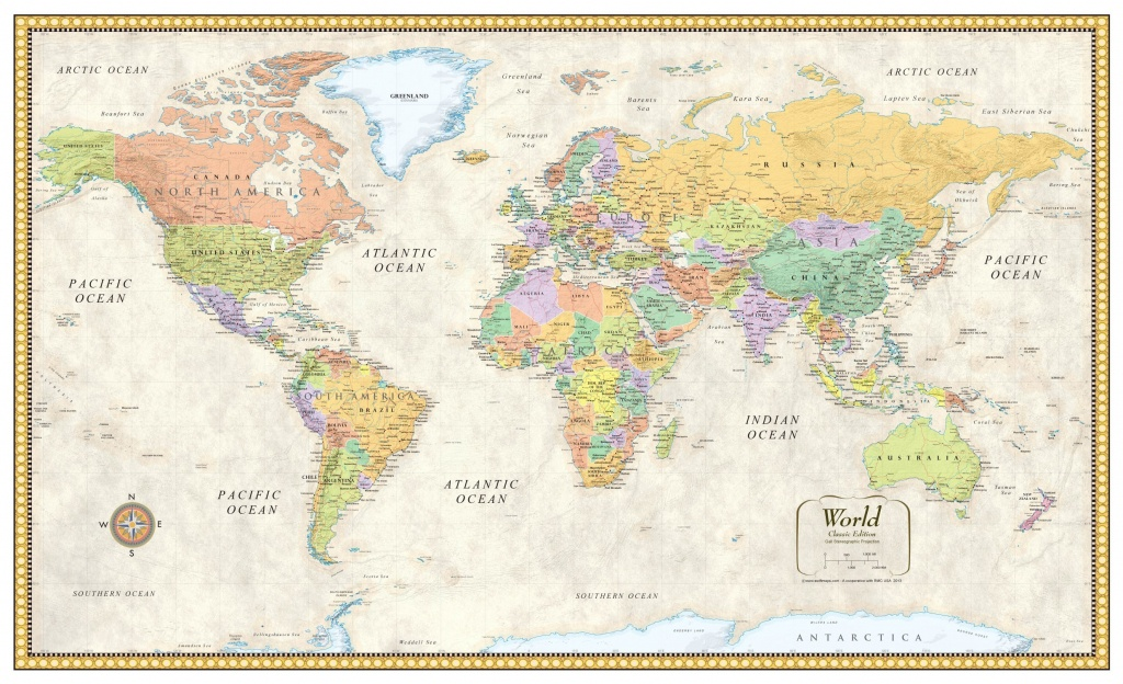 Download Free Large World Map Poster | World Map With Countries - Free Printable Large World Map Poster
