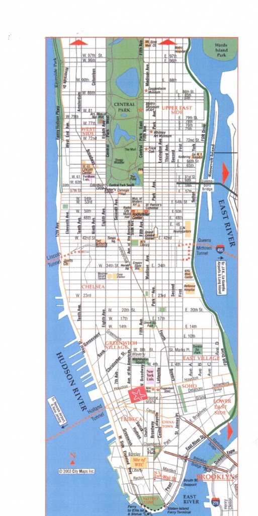Download Map Of Manhattan   Dyslexiatips - Printable Map Of Manhattan Pdf