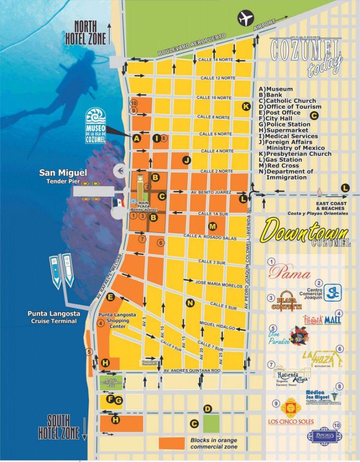 Printable Street Map Of Cozumel