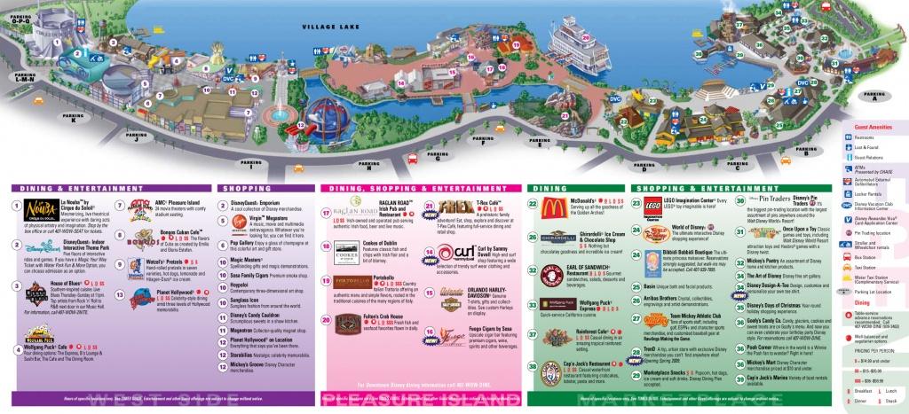 Downtown Disney Map For Downtown Disney, Orlando - Map Of Downtown Disney Orlando Florida