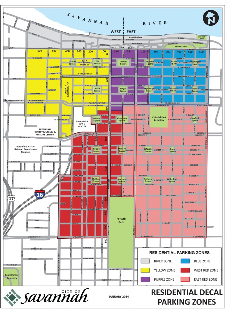 Downtown Neighborhood Association Of Savannah Ga Inc - New - Printable Map Of Savannah