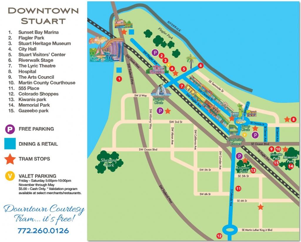 Downtown Stuart, Florida Map - Historic Downtown Stuarthistoric - Map Showing Stuart Florida