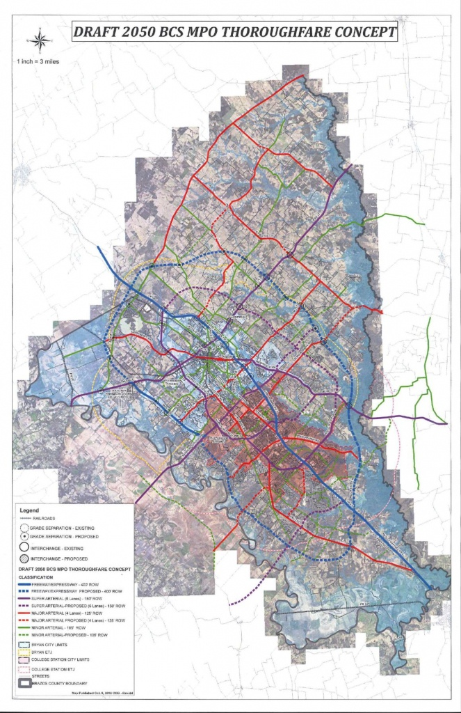 Draft 2050 Bcs Mpo Thoroughfare Concept | Local News | Theeagle - Brazos County Texas Map