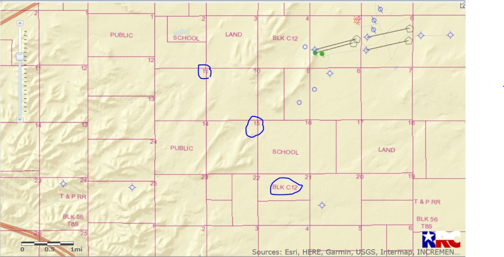 Drilling Activity In Sections 11 And 15, Block 112 - Pecos County - Reeves County Texas Map