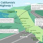 Driving California's Scenic Highway One   California Highway 1 Scenic Drive Map