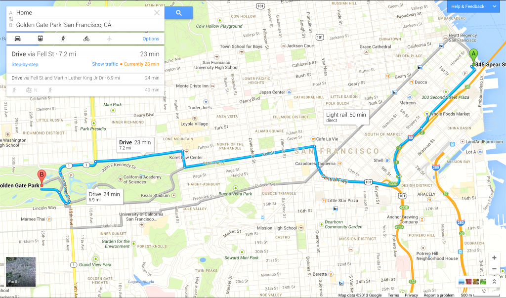 Driving Directions On Google Map - Capitalsource - Printable Google Maps