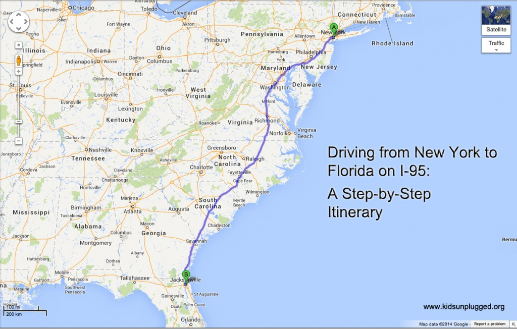Driving From New York To Florida – A Step-By-Step Itinerary | Kids - Myrtle Beach Florida Map