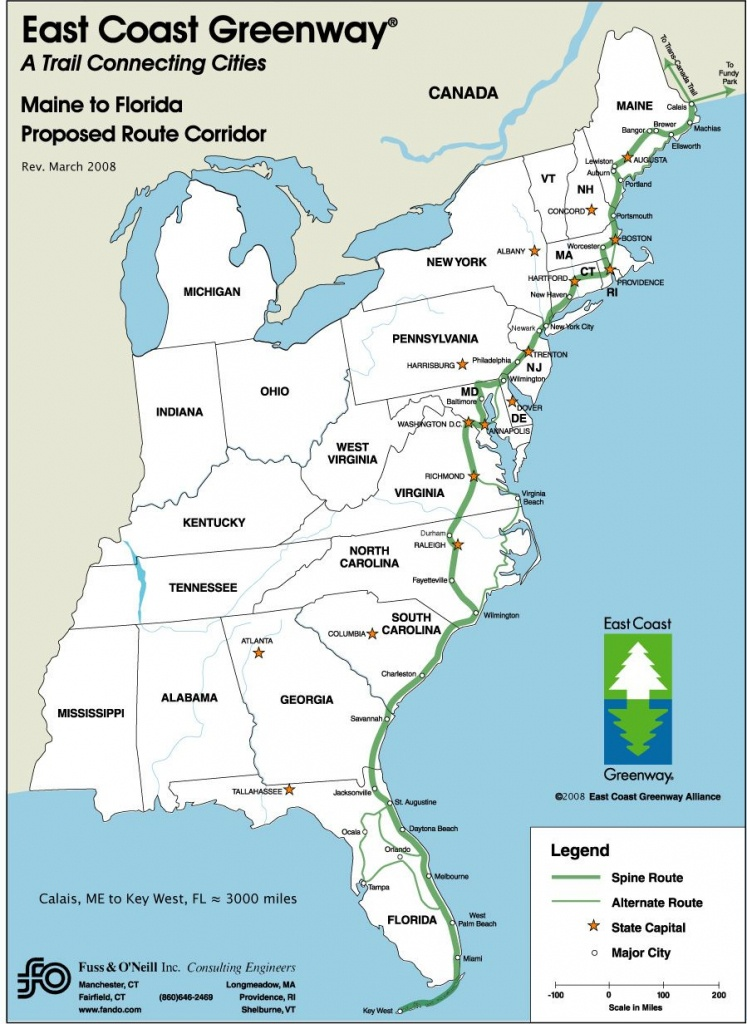 Driving Map Of East Coast | 26: Some Of The Benefits To Having A - Printable Map Of East Coast