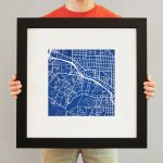 Duke University Campus Map Art   City Prints   Duke University Campus Map Printable