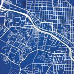 Duke University Campus Map Art   The Map Shop   Duke University Campus Map Printable