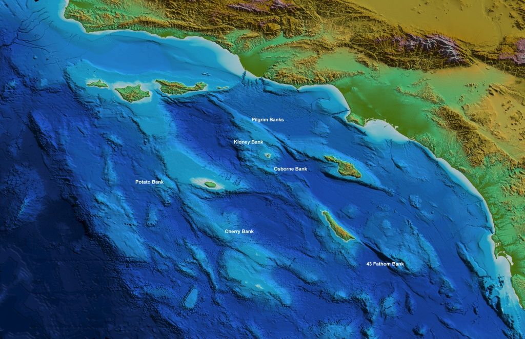 Earthguide Online Classroom - Surface Relief Map - Southern - Relief Map Of Southern California