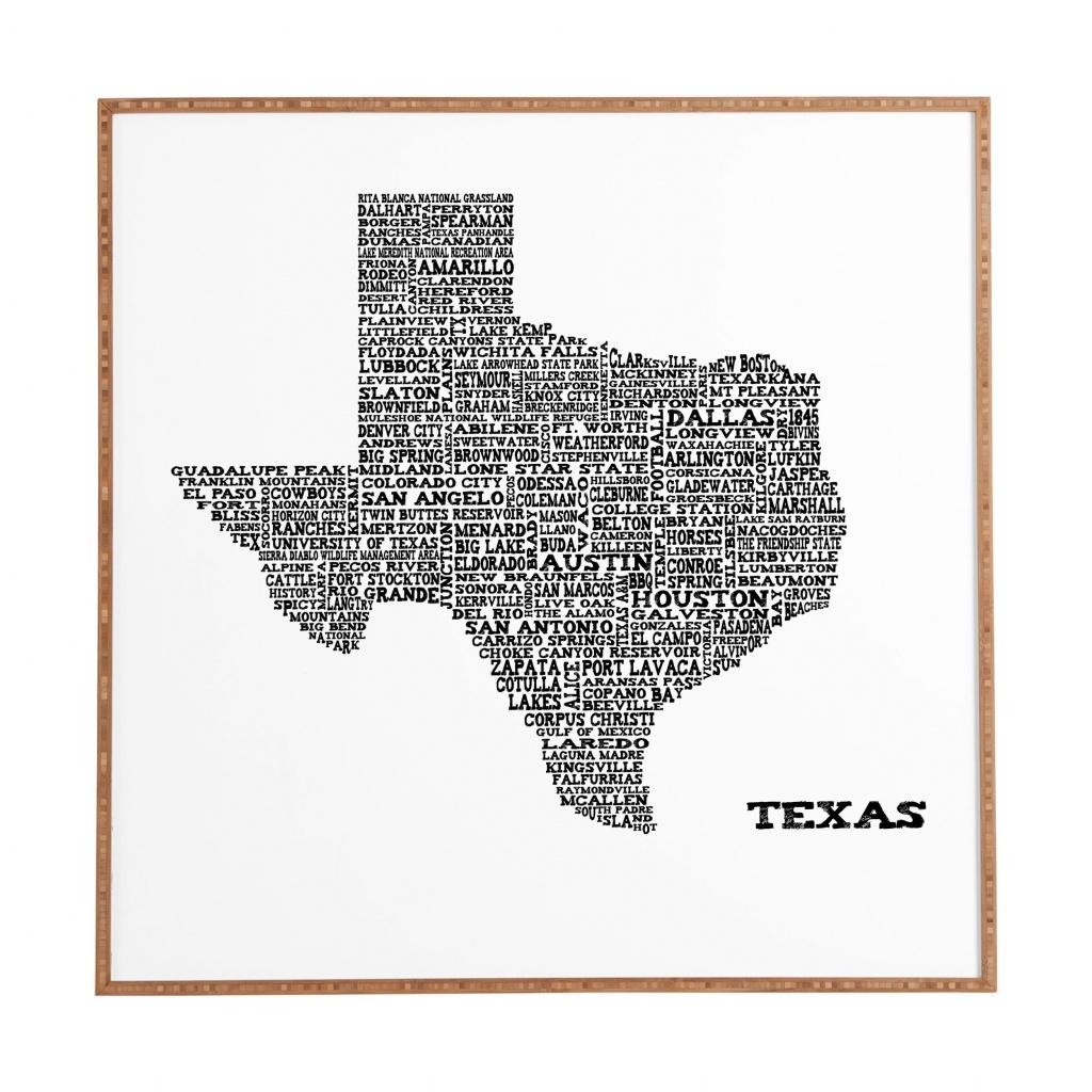 East Urban Home 'texas Map' Framed Graphic Art & Reviews   Wayfair - Texas Map Art