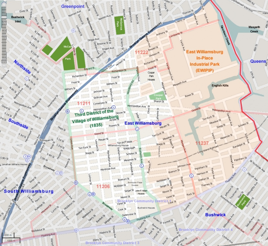 East Williamsburg, Brooklyn - Wikipedia - Brooklyn Street Map Printable