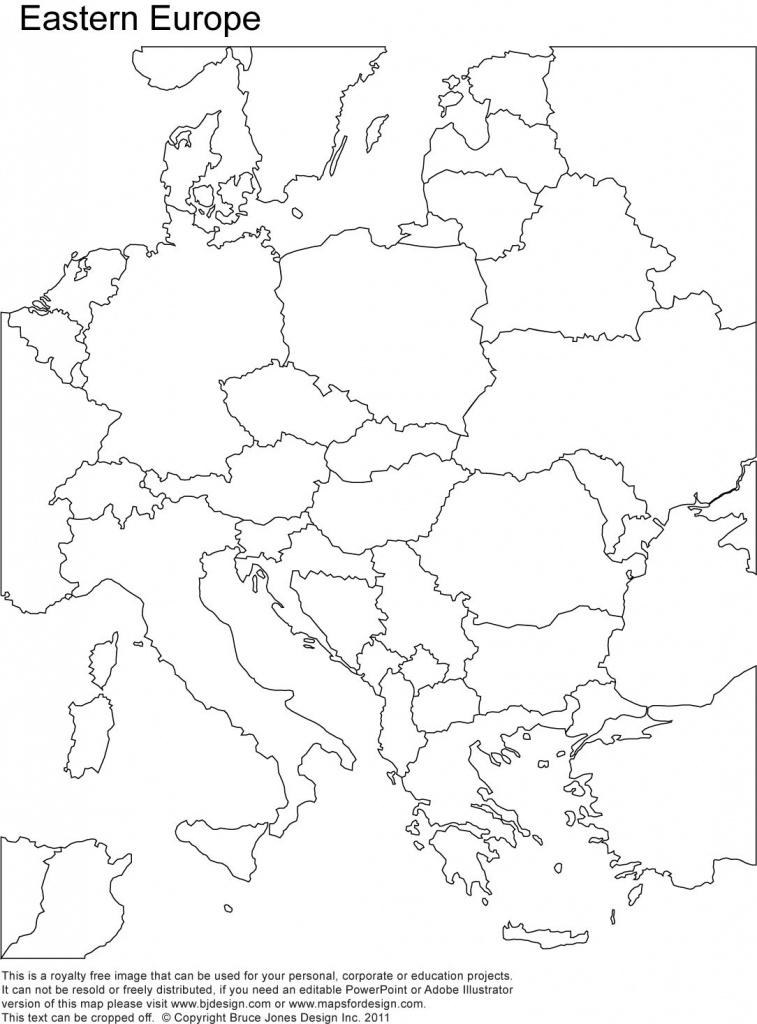 Eastern Europe Printable Blank Map, Royalty Free, Country Borders - Printable Map Of Eastern Europe