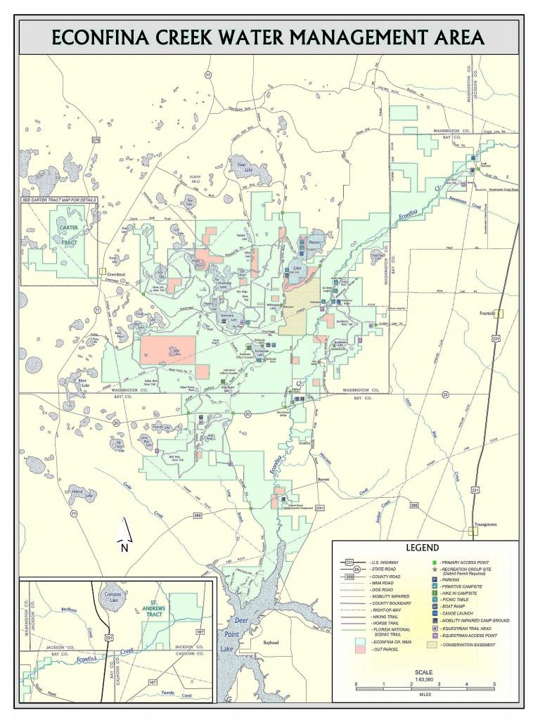 Econfina Canoe Launch | Northwest Florida Water Management District - Springs Map Florida