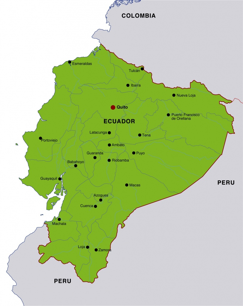 Ecuador Maps | Printable Maps Of Ecuador For Download - Printable Map Of Ecuador