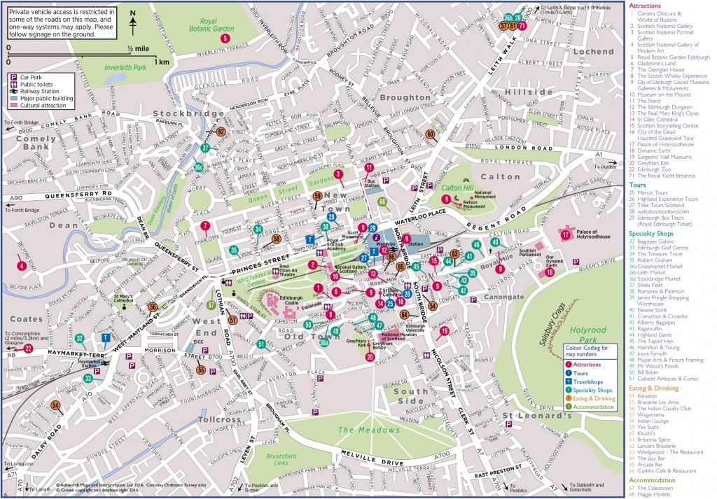 Edinburgh Tourist Map - Edinburgh City Map Printable