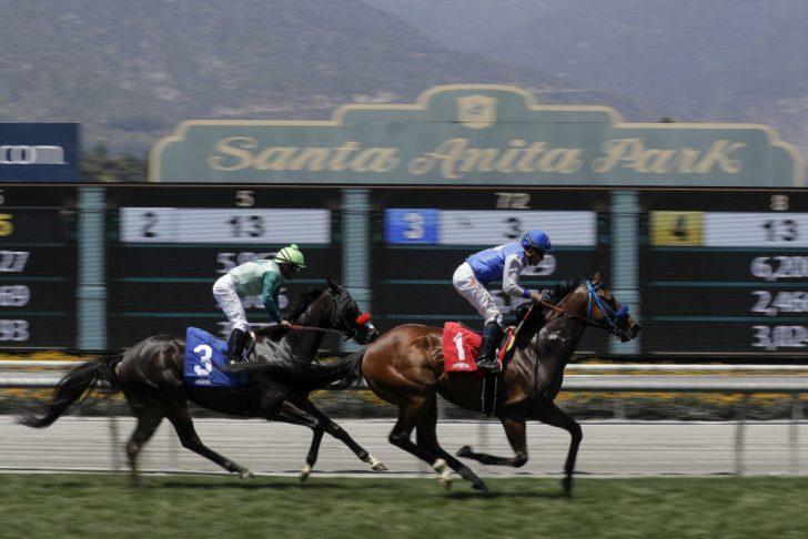 Horse Race Tracks In California Map