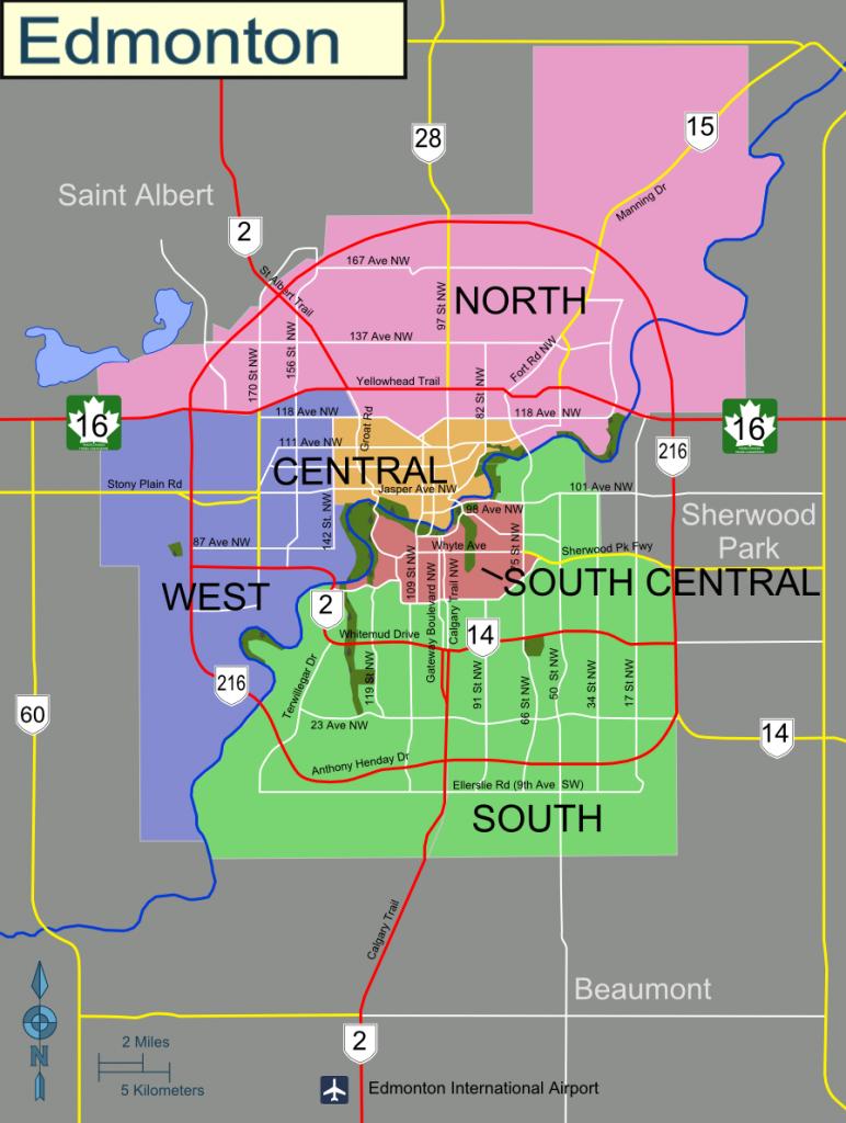 Edmonton – Travel Guide At Wikivoyage - West Edmonton Mall Map Printable