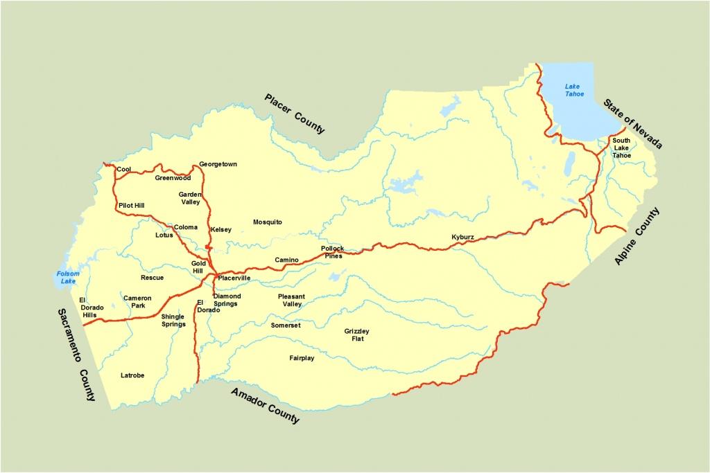 El Dorado County Map And Travel Information | Download Free El - El Dorado County California Parcel Maps