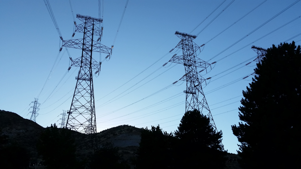 Electric Power Transmission - Wikipedia - High Voltage Power Lines Map California